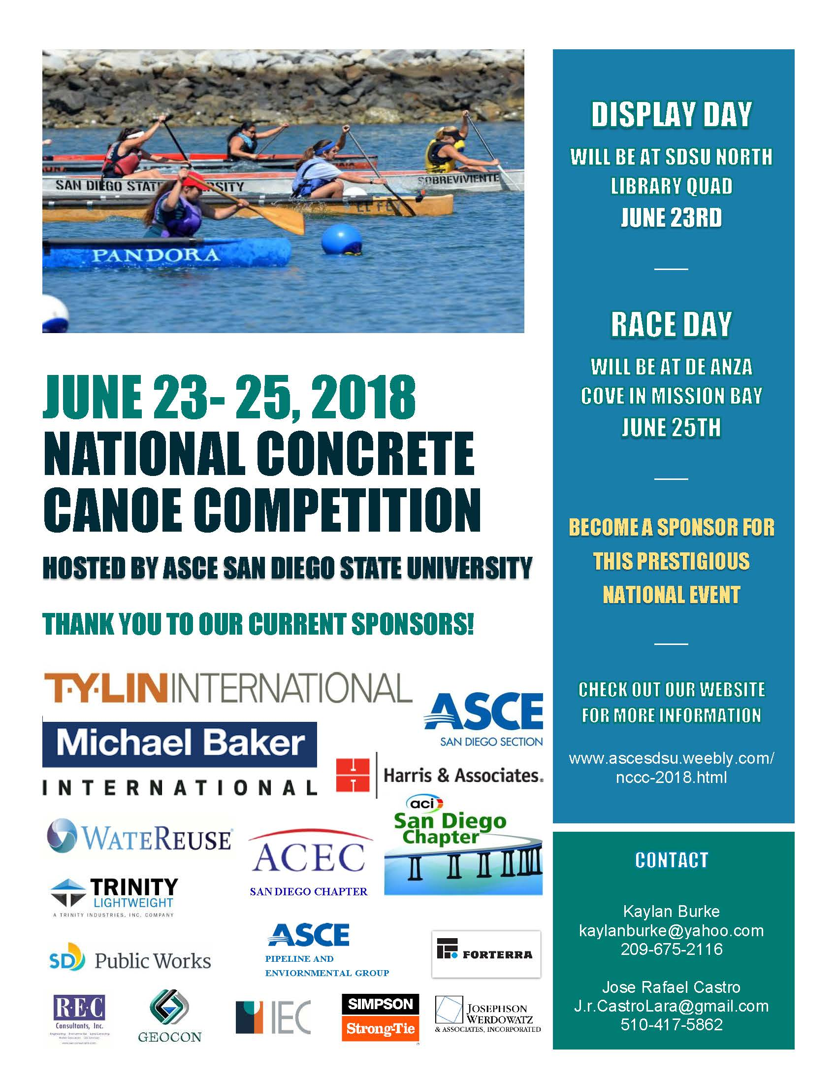 National Concrete Canoe Competition 2018