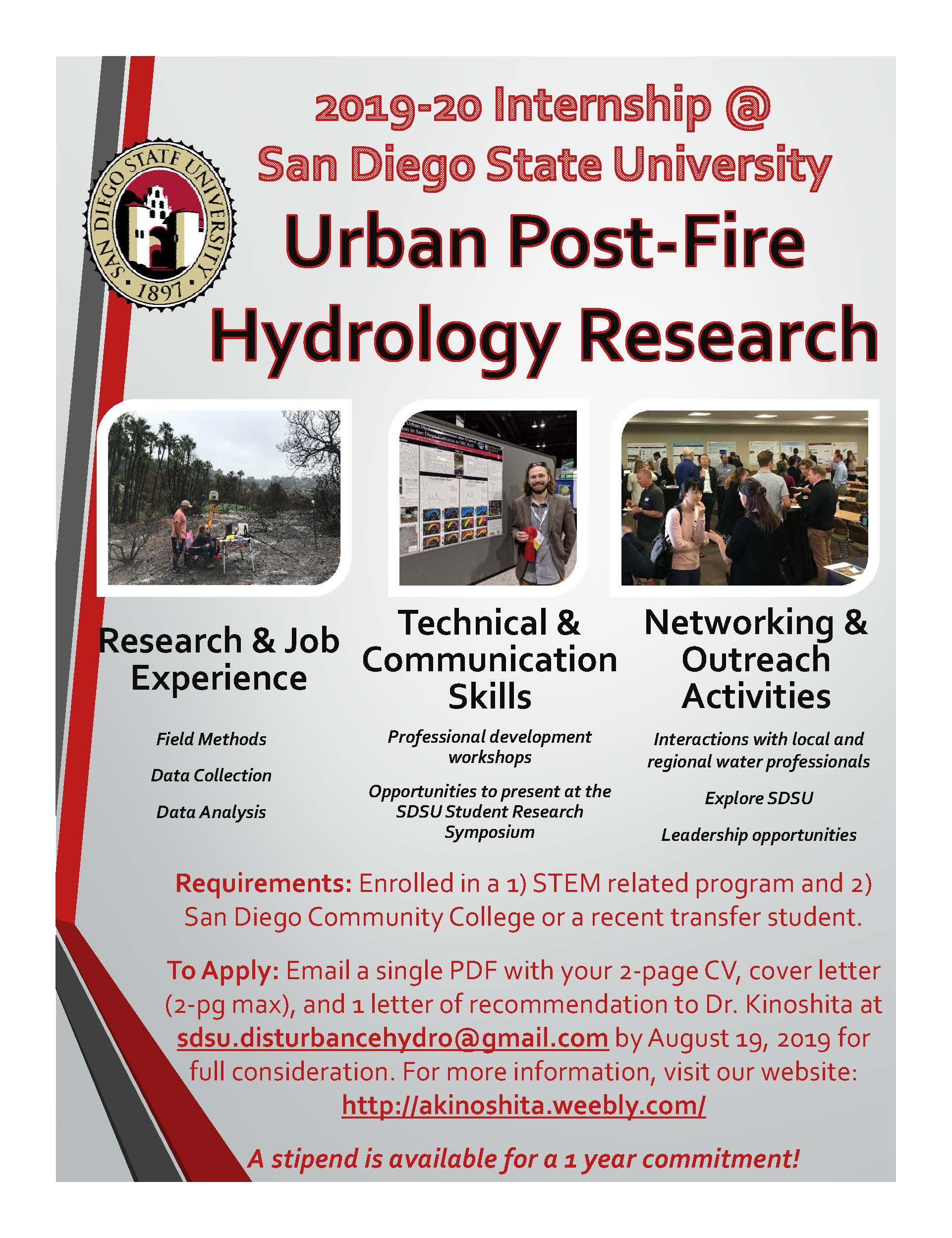 2019 SDSU Postfire Research Opportunity